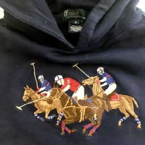 Polo by Ralph Lauren Shirts & Tops - Boys Polo Ralph Lauren Blue Horses Hoodie  5 6